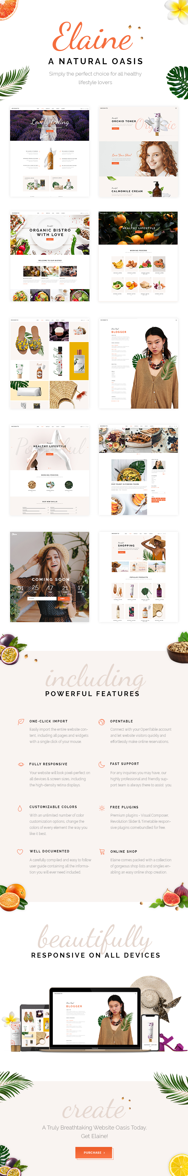 Elaine - Modern Beauty and Healthy Lifestyle Theme - 1