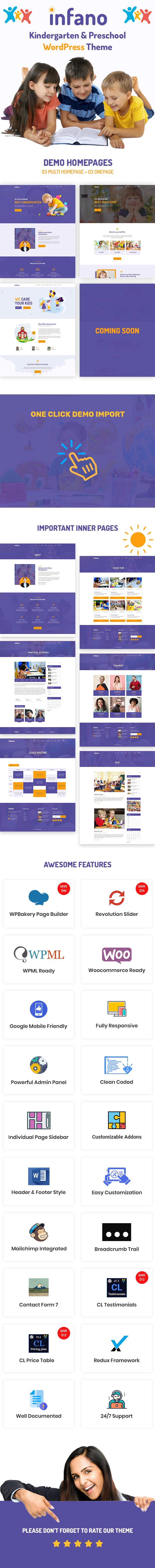 Infano - Kindergarten & Preschool WordPress Theme - 3