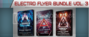 Christmas Electro Flyer Bundle Vol. 1 - 4