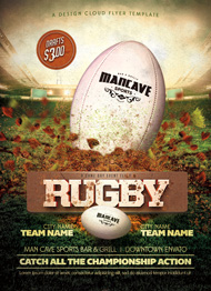Design Cloud: Rugby Game Day Flyer Template
