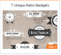 7 unique retro badges