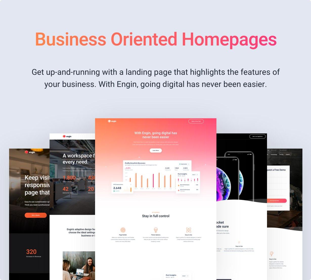 Engin - Multipurpose Landing Page WordPress Theme - 3