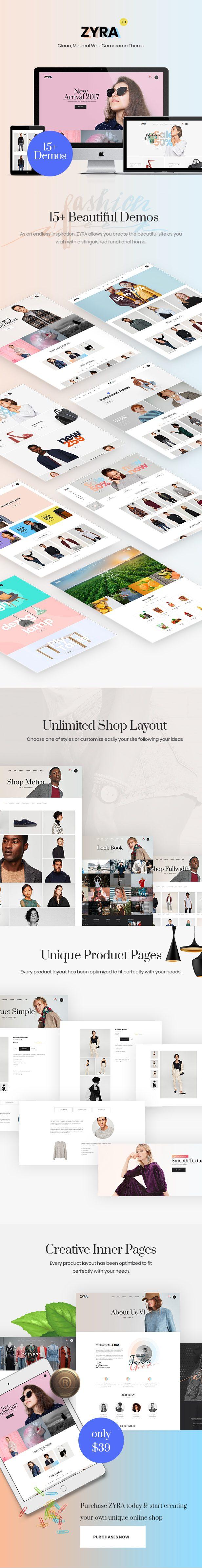 Zyra – Clean, Minimal WooCommerce Theme - 1