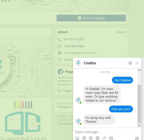 ChatBot for FaceBook Messenger - 6