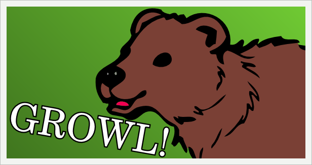 Cartoon Bear Growl!