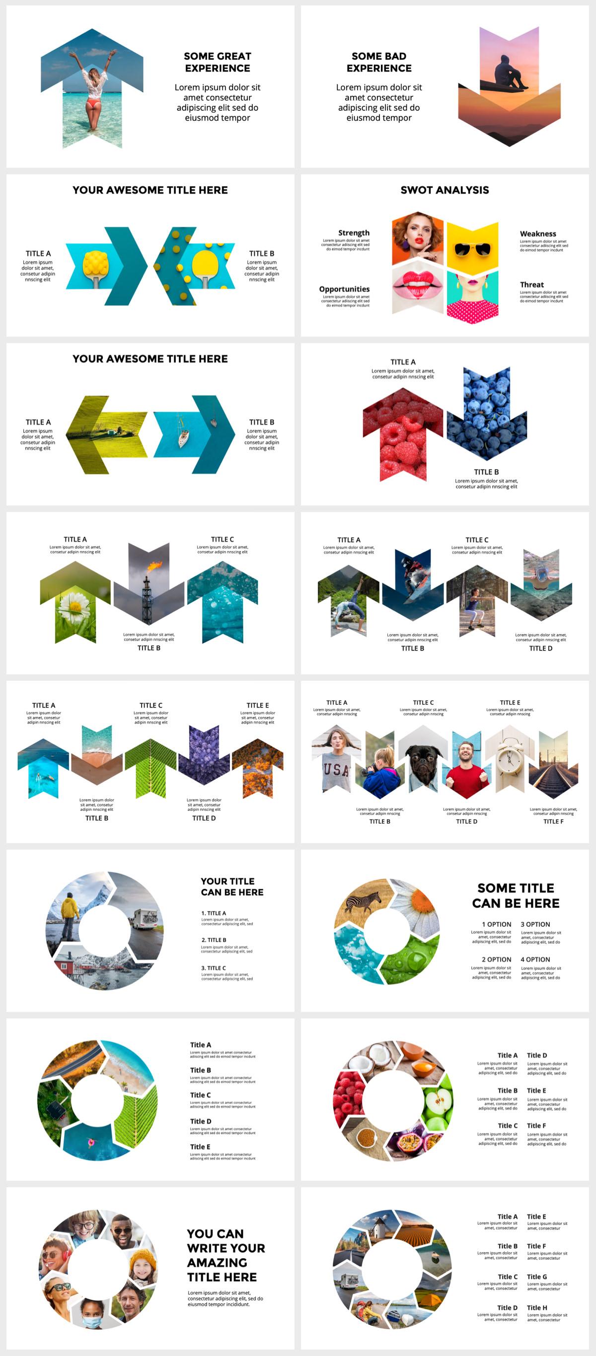 Huge Infographics Bundle! Lifetime Updates! PowerPoint, Photoshop, Illustrator. - 138