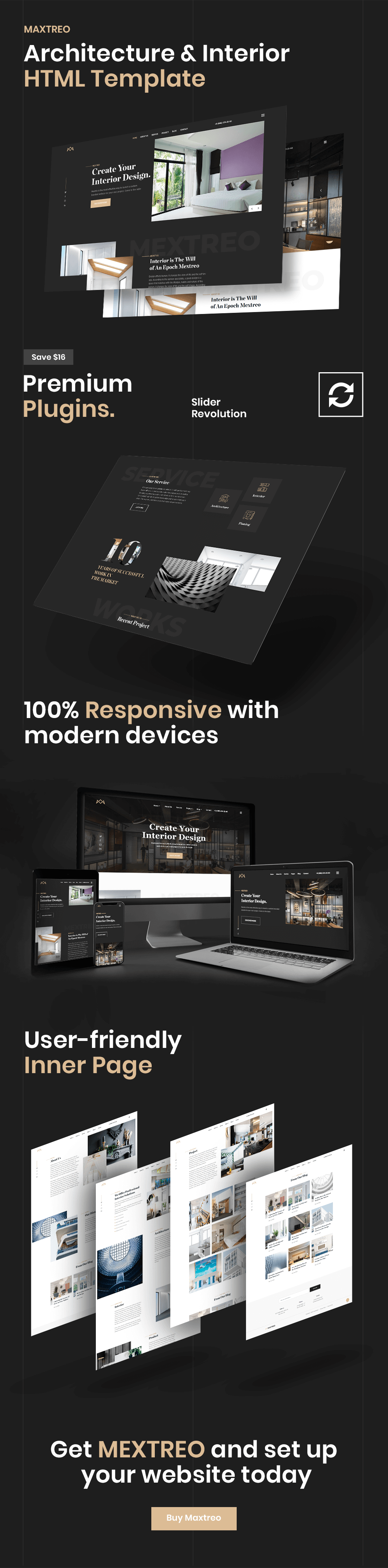 Maxtreo - Architecture and Interior HTML5 Template - 1