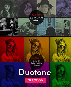 Duotone Photoshop Action