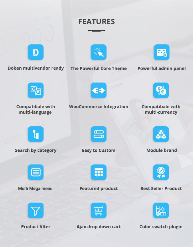Marketplace WP Theme support Dokan Multi Vendors - 8