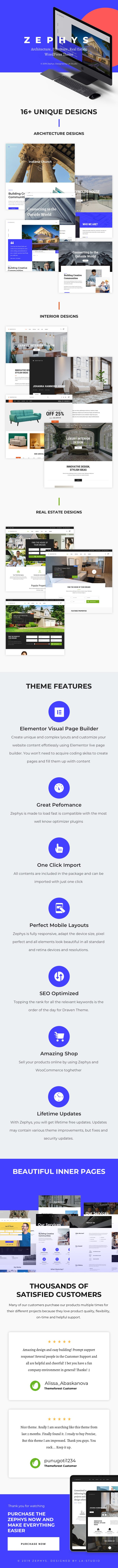 Zephys - Architecture & Interior WordPress Theme - 2