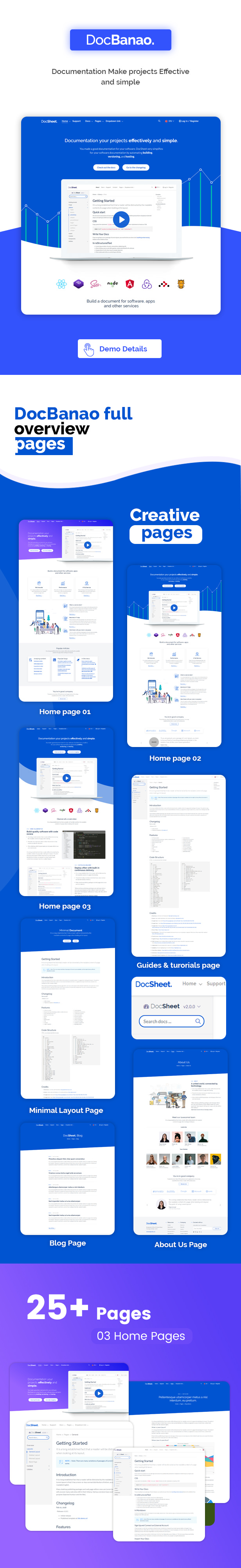 Docbanao Software Documentation Generator Html Template By Bdtask