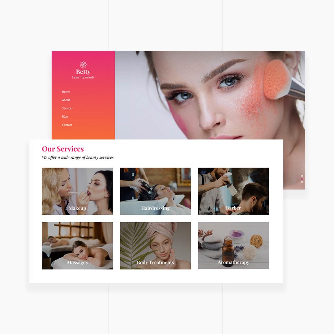 Betty | Beauty Salon and Makeup Template