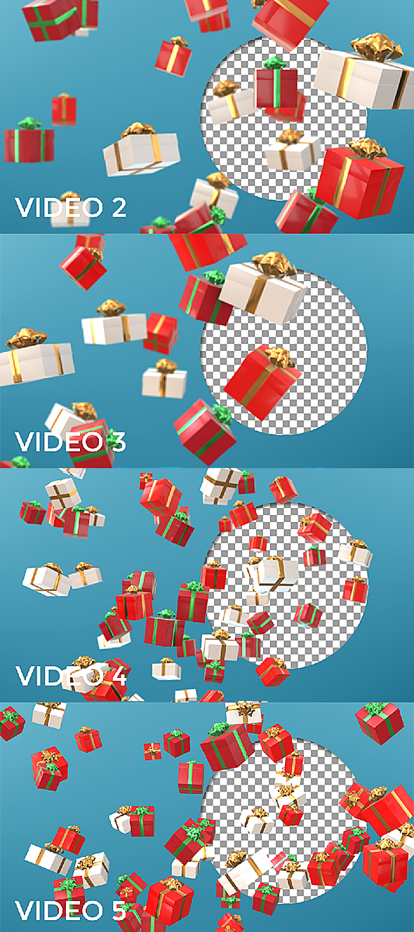 Xmas Gift Boxes Loop Background - 1