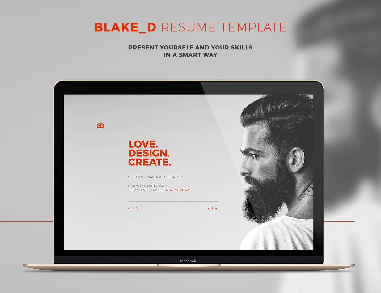 BlakeD - Portfolio & Resume Template - 5