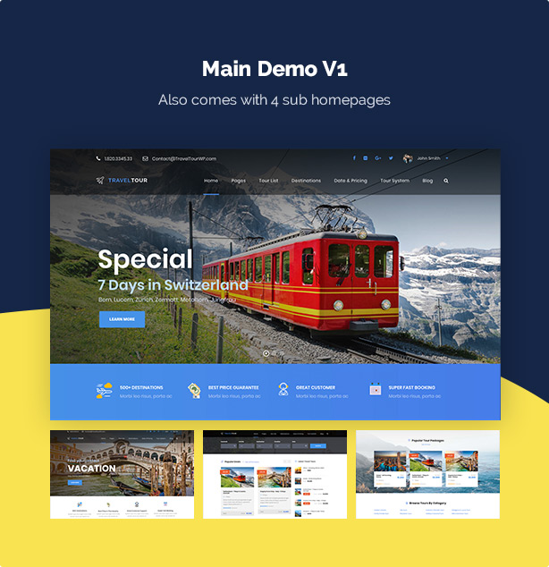 Travel Tour - Tour Booking, Travel Booking WordPress Theme - 7