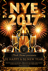 New Year Party Flyer Template - 17