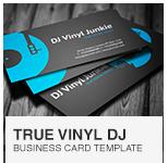 Vinyl DJ Business Card PSD template