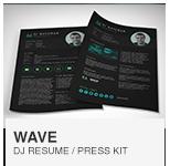 Wave DJ Resume Template