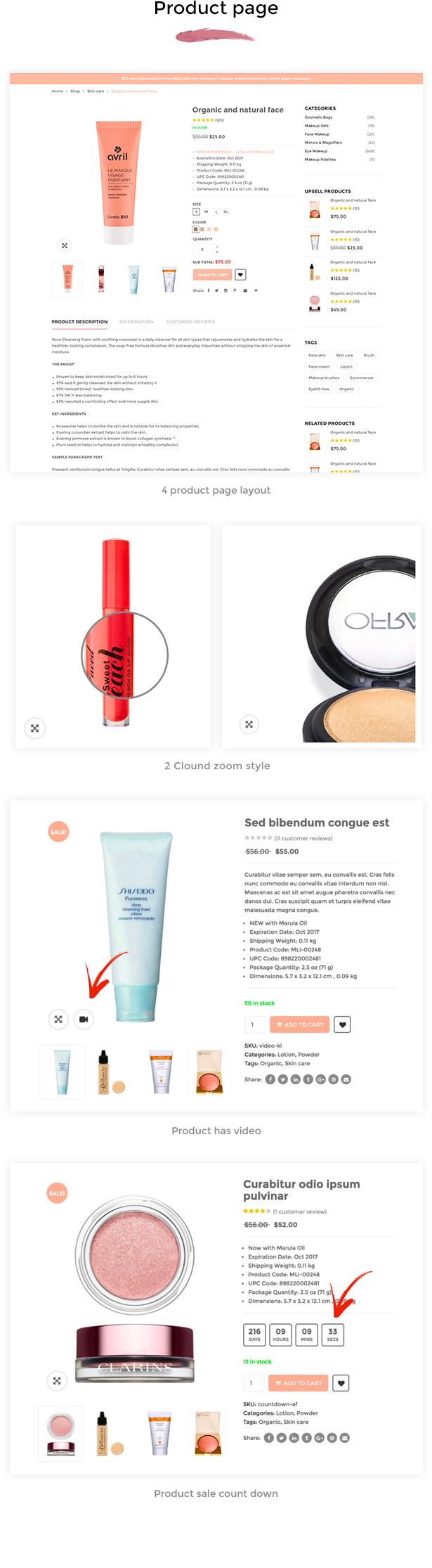SNS Vicky - Cosmetic WooCommerce WordPress Theme - 10