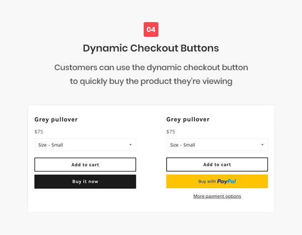 All-in-one shopify theme - dynamic check out