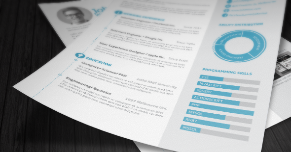 3 page Resume/ CV with Letter - 7