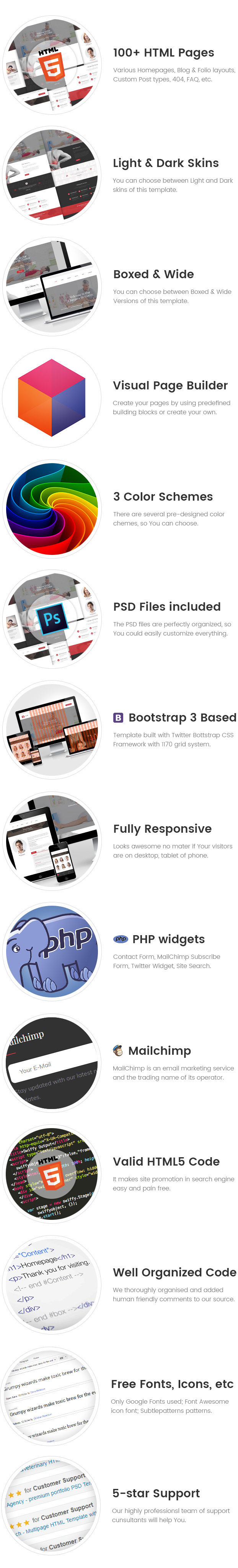 Active Life - Chiropractic Center HTML Template with Visual Page Builder