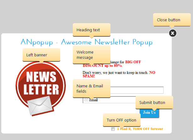 ANpopup: Awesome Newsletter Popup for Everyone - 9