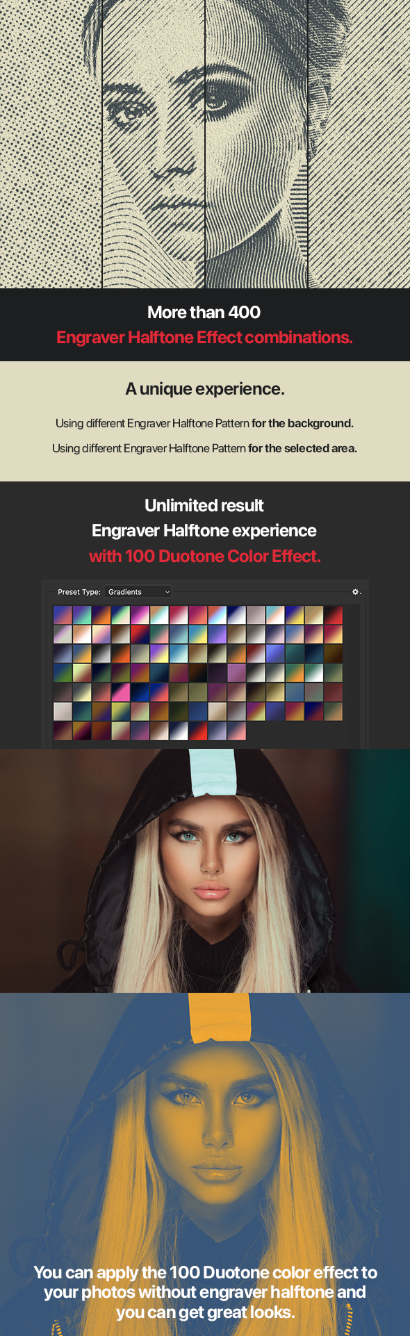 Engraver Halftone Pro Photoshop Action
