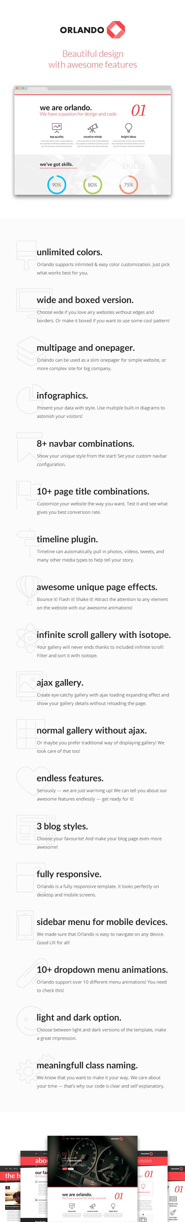 Orlando - Creative Infographics HTML Template - 10