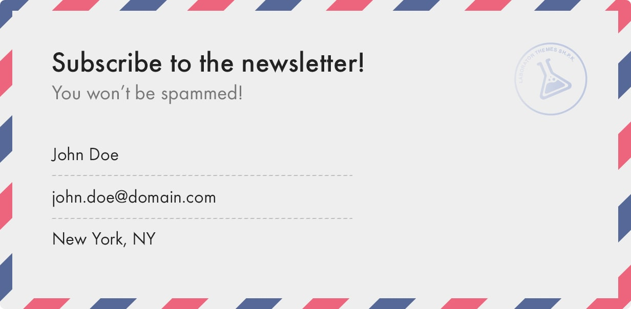 Subscribe for Laborator Newsletter