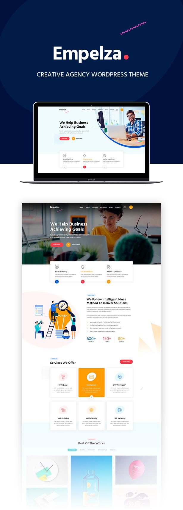 Empelza - Creative Agency & Portfolio WordPress Theme - 4