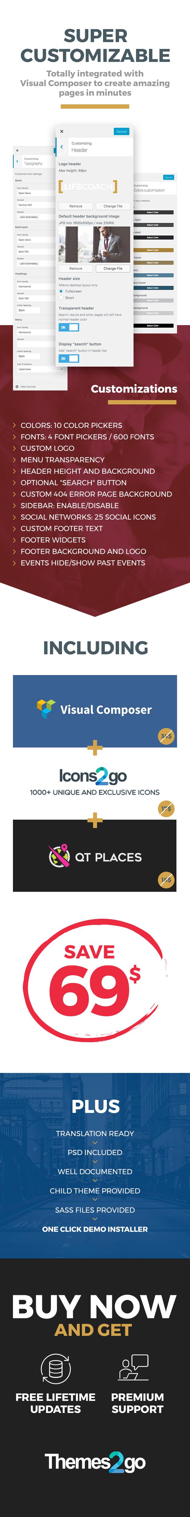 Life Coach Wordpress Theme Customizations