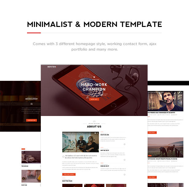 Benten - Responsive One Page Portfolio Template - 2