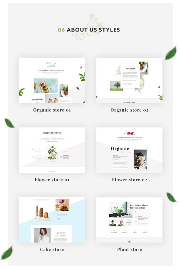 Organic Store WordPress theme - About Us page