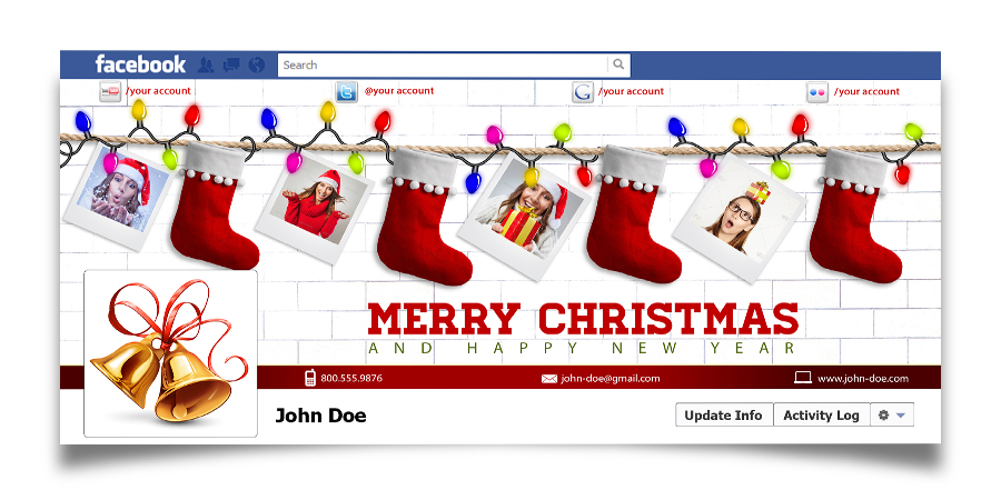 Christmas Real Estate Twitter Cover - 4