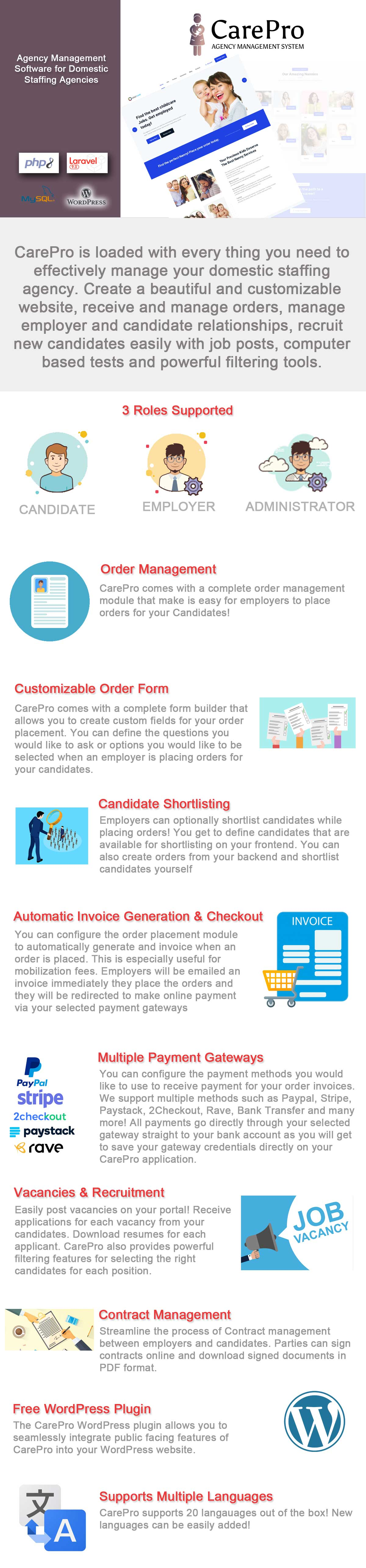 SaaS Domestic Staffing Agency Management System - CarePro - 10