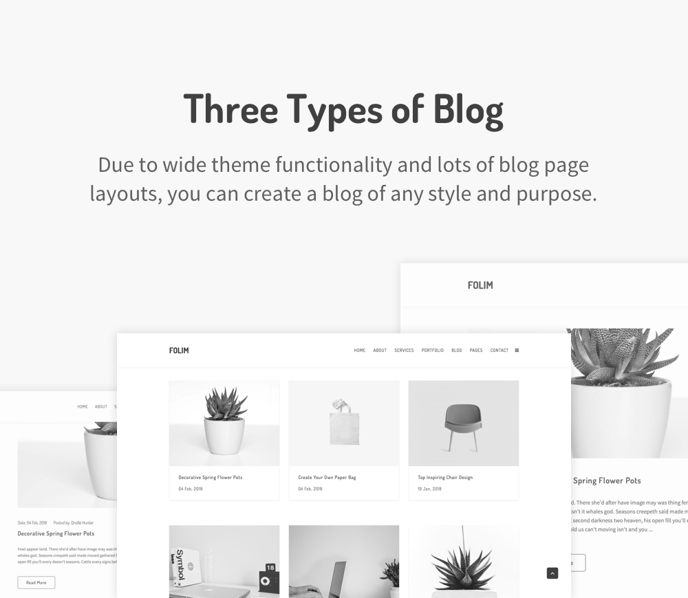 Folim - Clean Minimalist Portfolio WordPress Theme