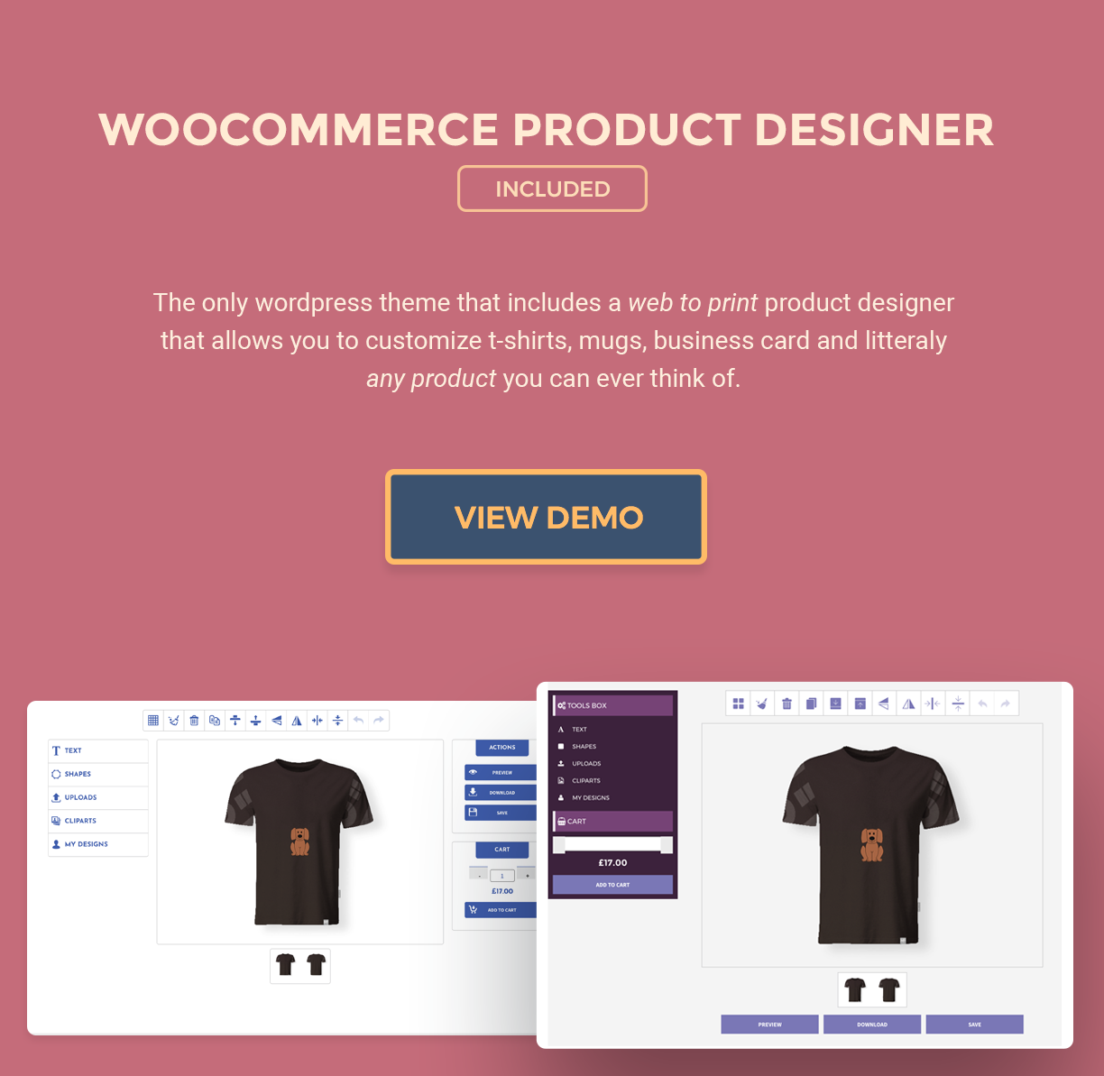 Porto-Novo - a WooCommerce Theme for any Web to Print store - 1