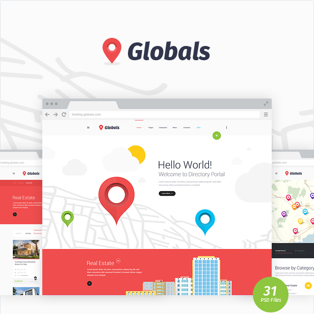 Globals - Material & Bootstrap HTML Template - 6