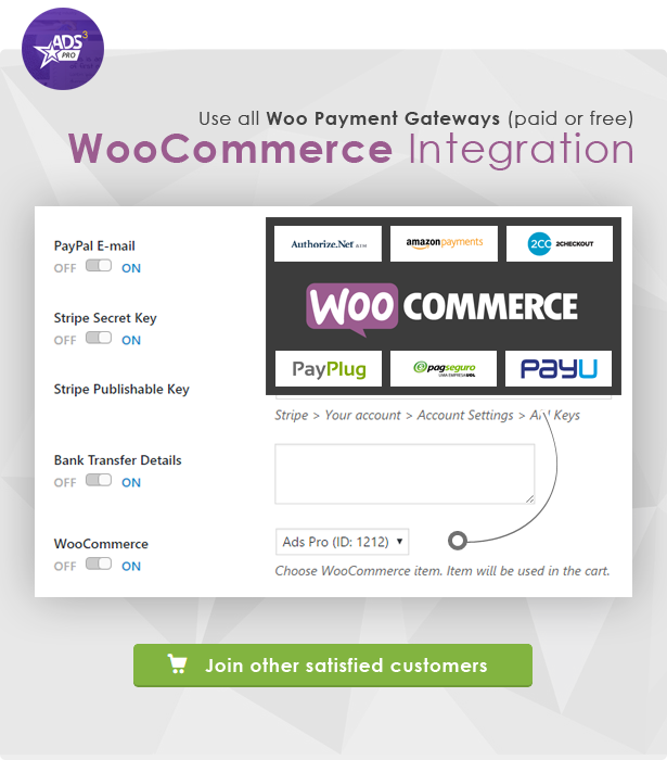 Ads Pro - WooCommerce Integration