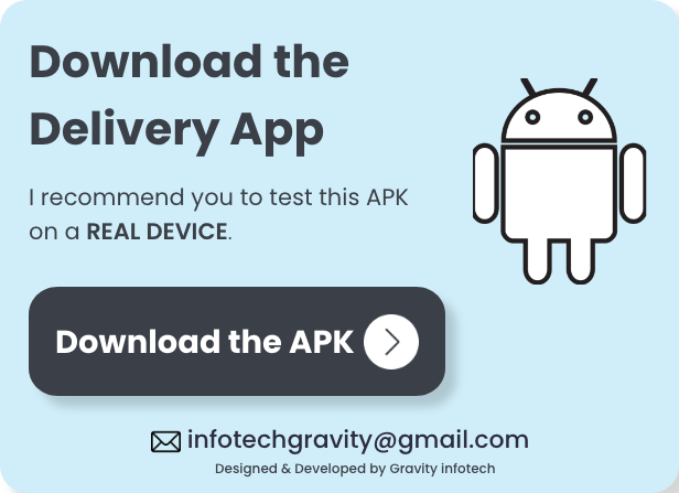 Single Restaurant Food Ordering Android User & Delivery Boy Apps with Backend Admin Panel - 8