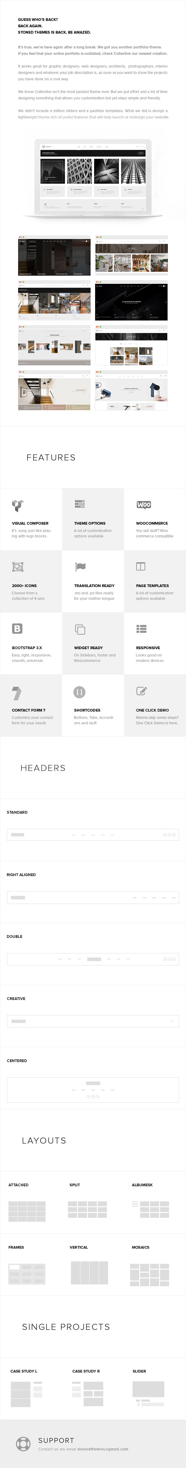 Collective - Minimal WordPress Theme - 1