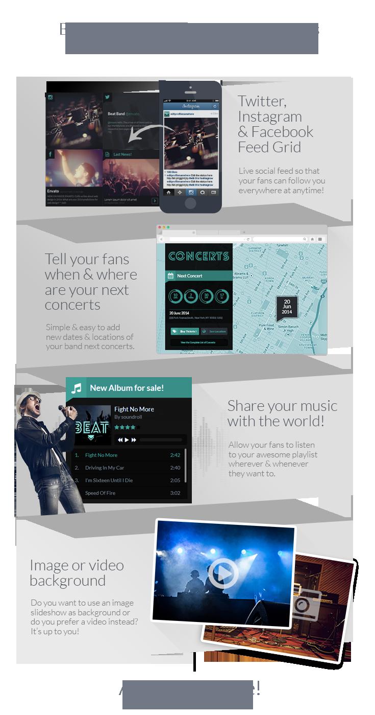Beat - One Page Music & Band Joomla Template - 3