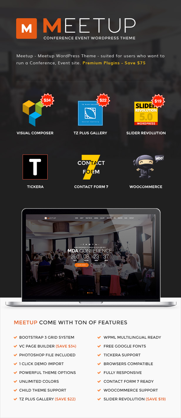 Meetup - Conference Event WordPress Theme - 2