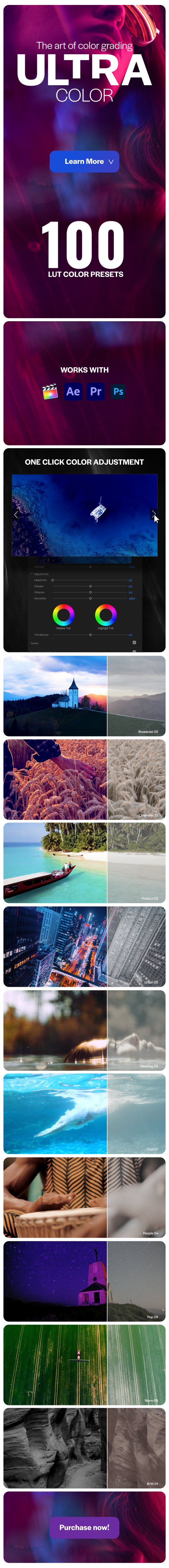 Ultra Color | LUTs pack for Any Software - 1