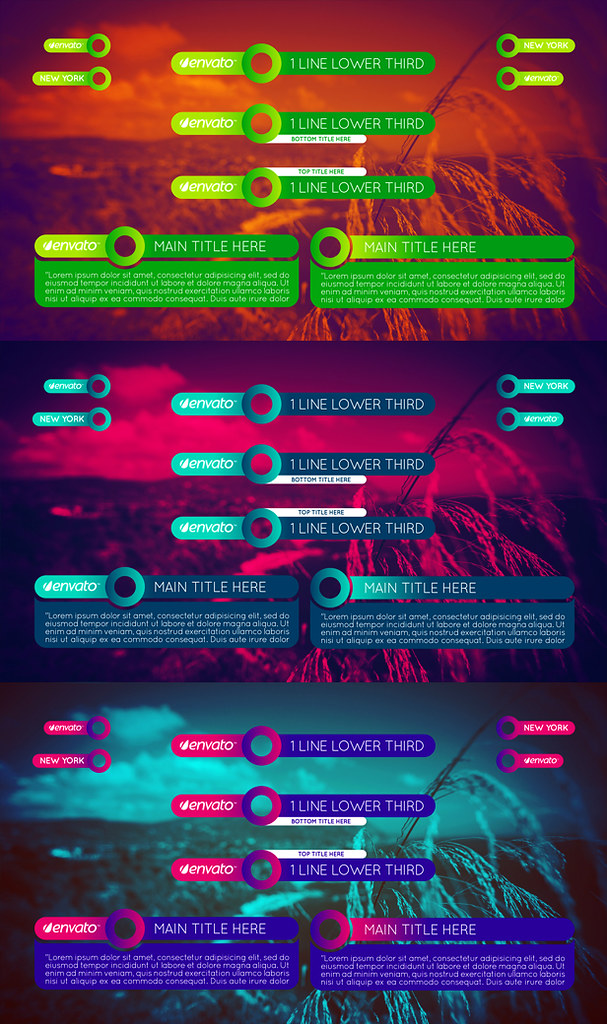 Colorful Lower Thirds Pack - 1
