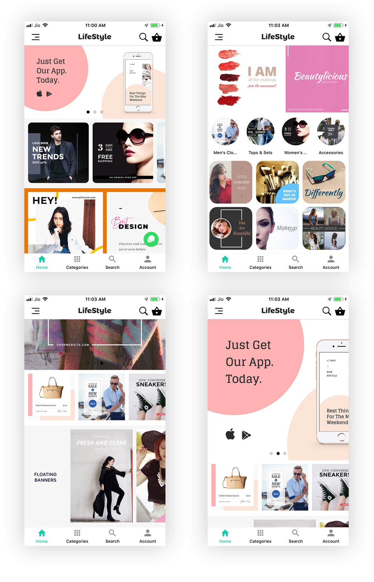 WooCommerce Mobile App ionic full application Lifestyle theme - 2