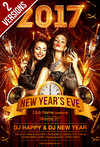 New Year Party Flyer Template - 19