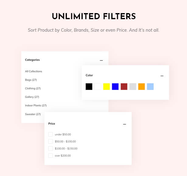 Unlimited filter on the collection page