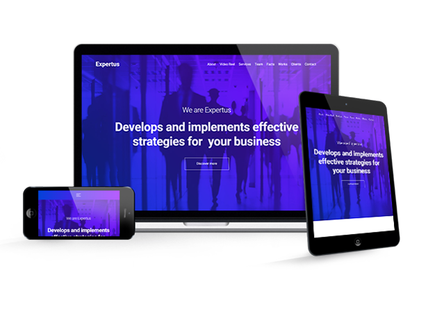 Expertus - Business / Corporate / Company Responsive Muse Template - 1
